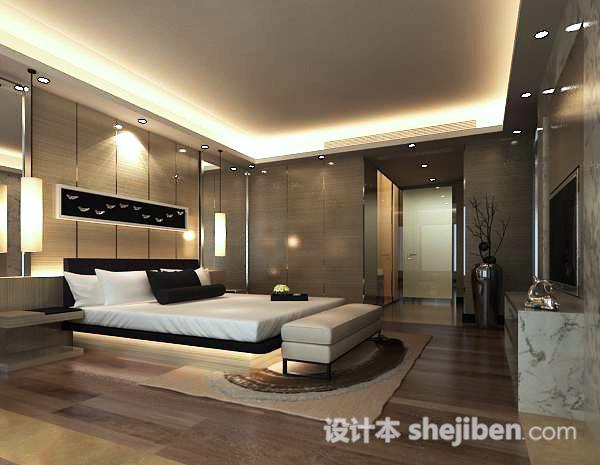 简约卧室模型下载