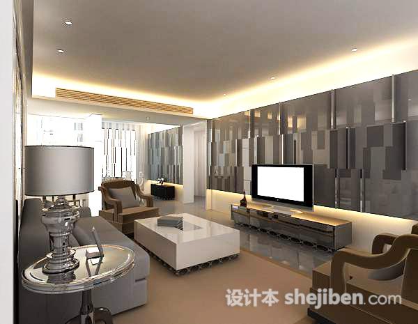 客厅整套模型