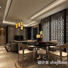 中式餐厅吊灯3d模型下载