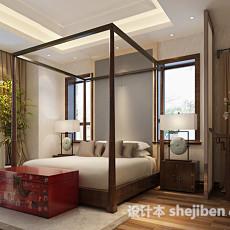 东南亚风格卧室3d模型下载