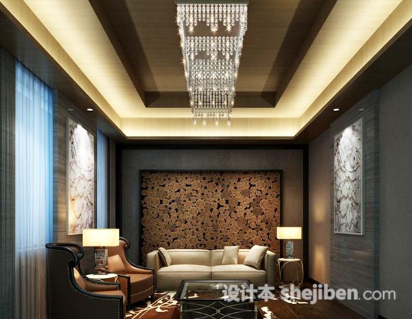 3d室内客厅背景墙模型