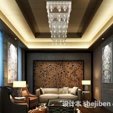 室内客厅背景墙3d模型下载