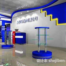 室内展示厅3d模型下载