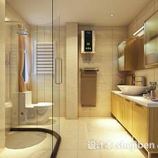 现代浴室整体3d模型下载