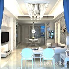 简欧风格客厅3d模型下载