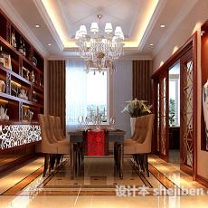 欧式家居餐厅3d模型下载
