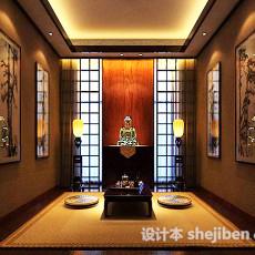 东南亚风格客厅3d模型下载