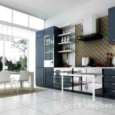 现代简约厨房3d模型下载