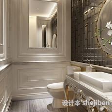 欧式卫生间天花板3d模型下载