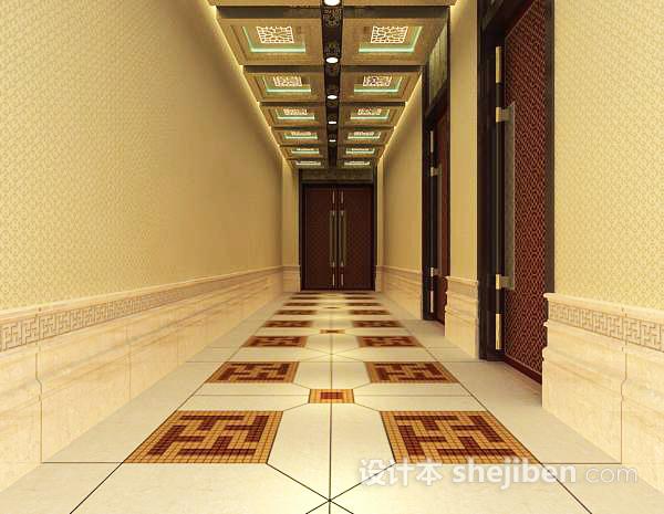 中式走廊过道