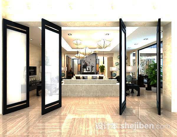 客厅屏风3d模型