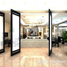 客厅屏风3d模型下载