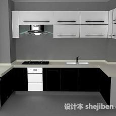 现代厨房3d模型下载