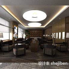 咖啡店3d模型下载