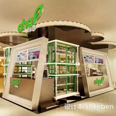 果留仙水果店小型展厅3d模型下载