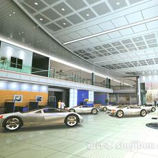 汽车展厅场景3d模型下载