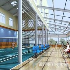 国际羽毛球场3d模型下载