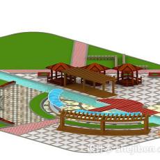 小型广场3d模型下载