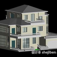 欧式建筑别墅3d模型下载