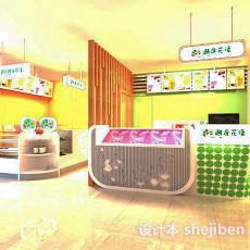 甜品店3d模型下载