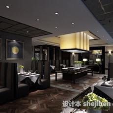 餐厅卡座3d模型下载