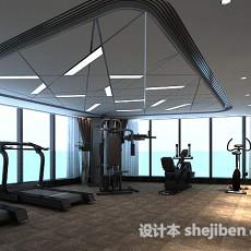 健身房整体3d模型下载