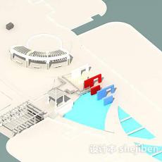工装外景3d模型下载