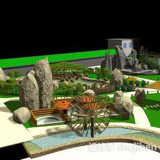 室外景观3d模型下载