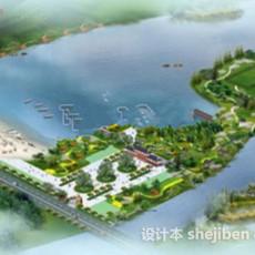 景观湖3d模型下载