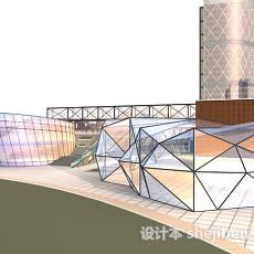 玻璃房3d模型下载