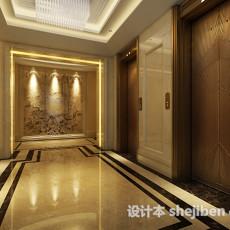1层电梯厅3d模型下载