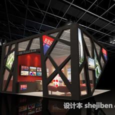 展示空间设计3d模型下载