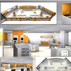中国联通营业厅展厅3d模型下载