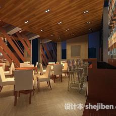 茶吧大厅3d模型下载