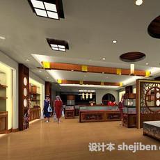 中式古玩展厅3d模型下载