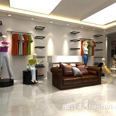 服装店场景3d模型下载