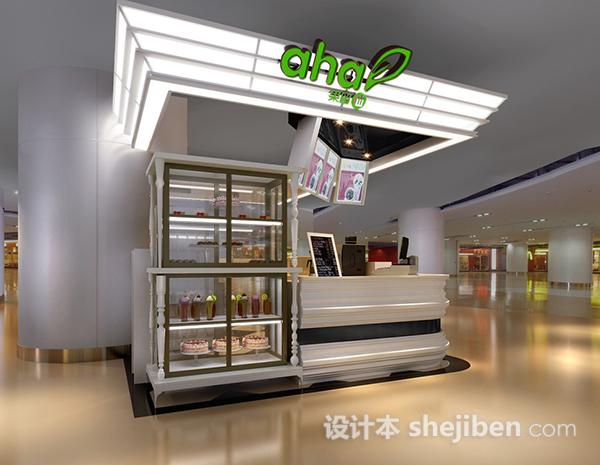 冷饮小型展厅3d模型