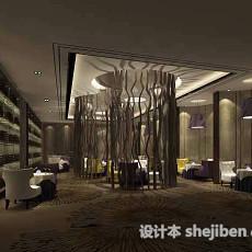 餐厅卡座沙发3d模型下载