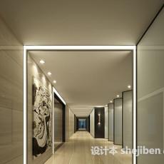 办公区走廊3d模型下载