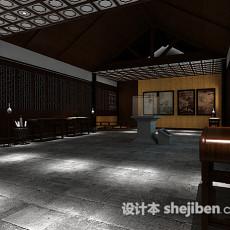 古典中式展厅3d模型下载