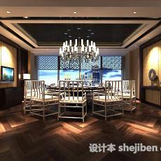 中式餐厅包间3d模型下载