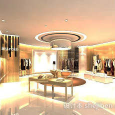 服装店吊顶3d模型下载