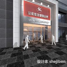 公装门头3d模型下载