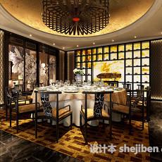 中式餐厅3d模型下载