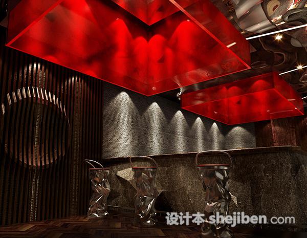 铁板烧前厅吧台3d模型库免费下载