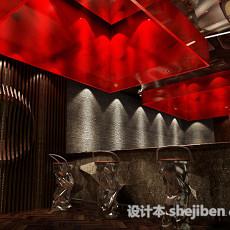 铁板烧前厅吧台库免费3d模型下载