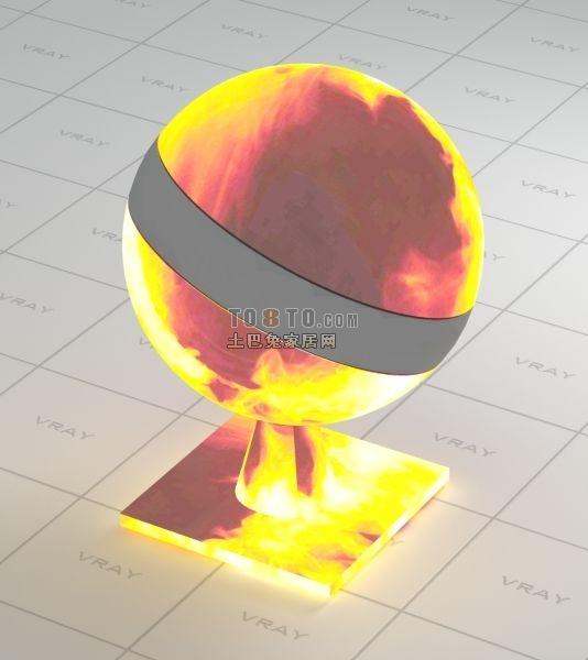 火堆vray材质球VR材质