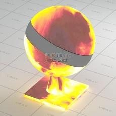 火堆vray材质球