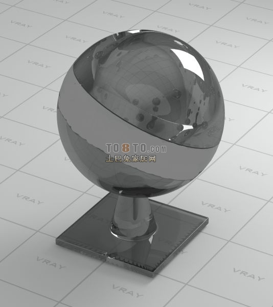 黑水晶vray材质球VR材质
